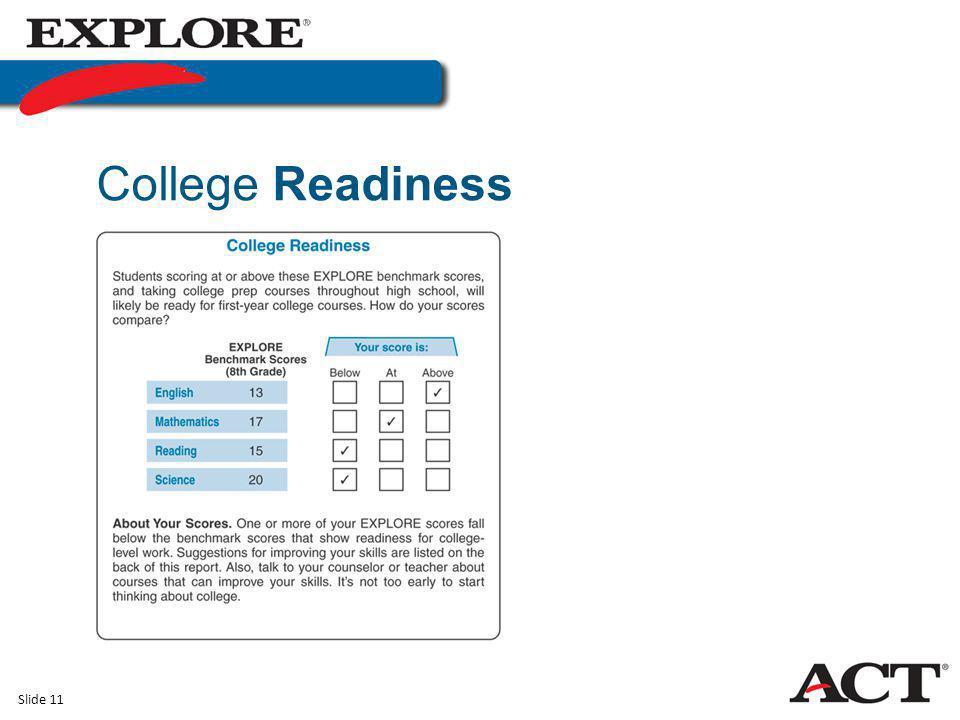 Slide 11 College Readiness
