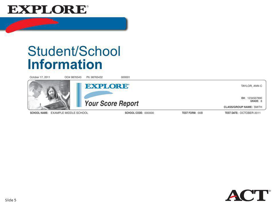 Slide 5 Student/School Information