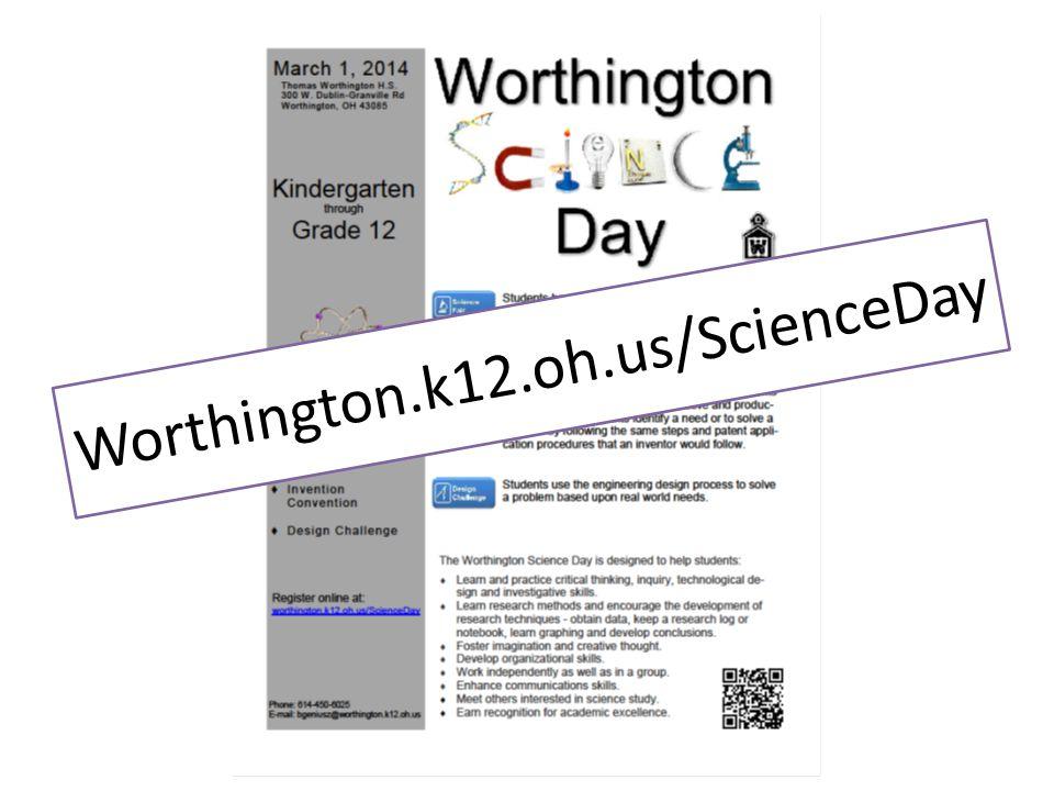 Worthington.k12.oh.us/ScienceDay