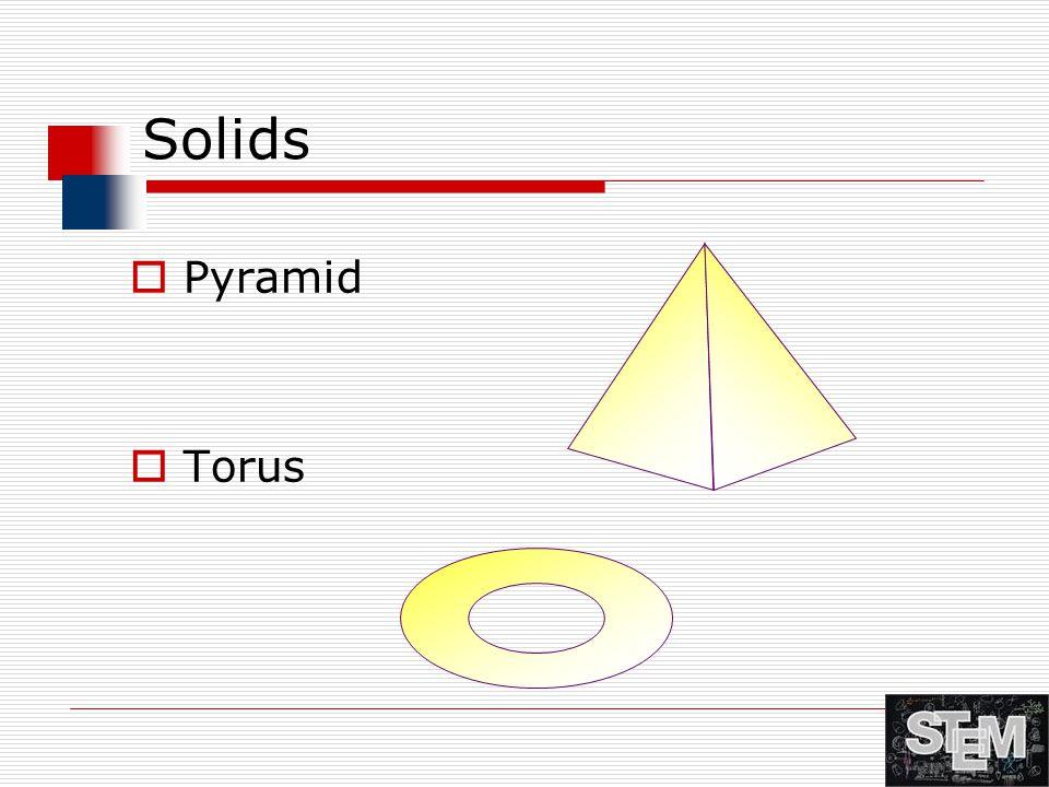 Solids  Pyramid  Torus
