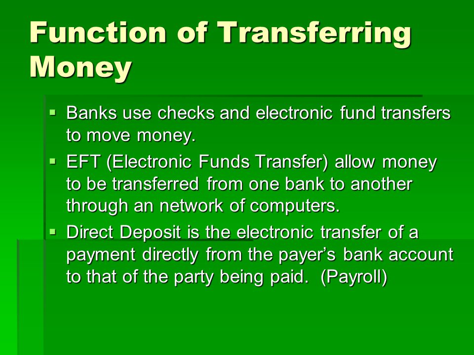 Function of Lending Money  Lending money is the primary way for banks to generate profit.
