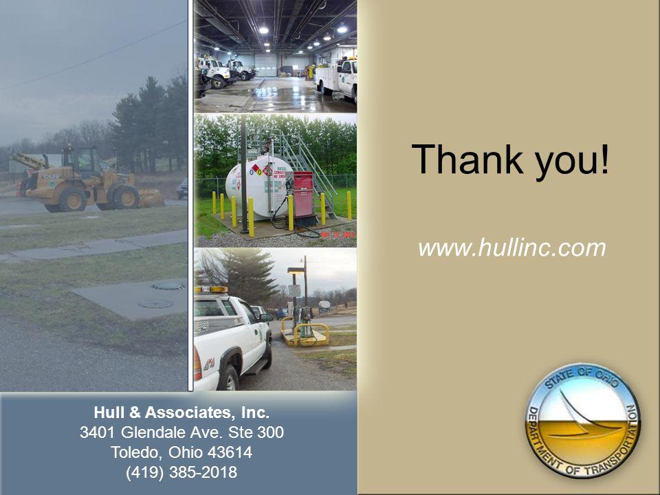 Thank you! www.hullinc.com Hull & Associates, Inc. 3401 Glendale Ave. Ste 300 Toledo, Ohio 43614 (419) 385-2018
