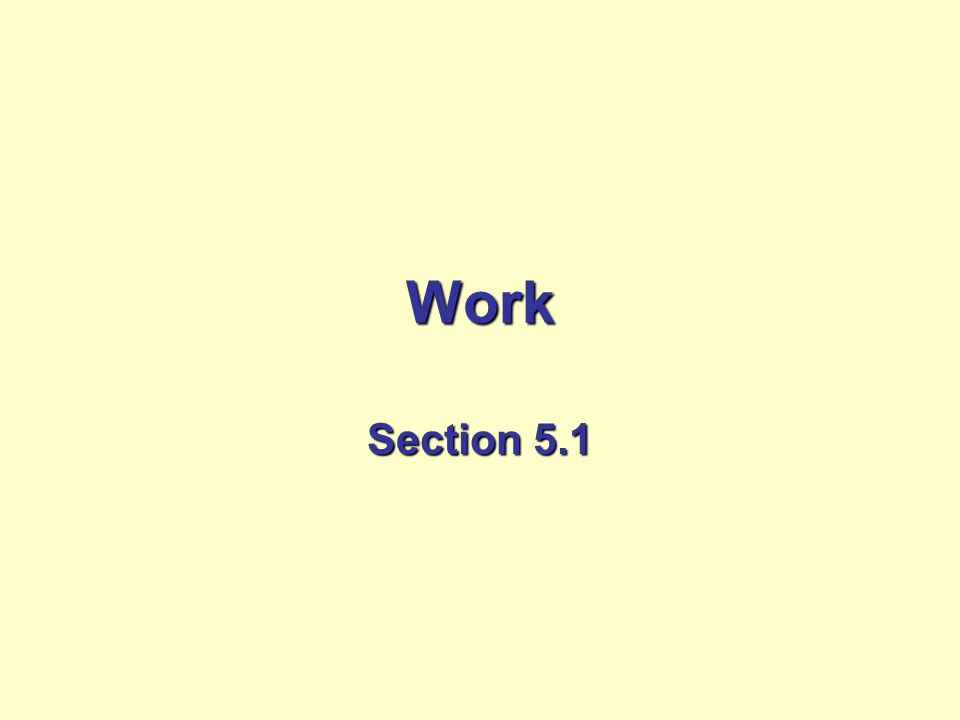 Work Section 5.1