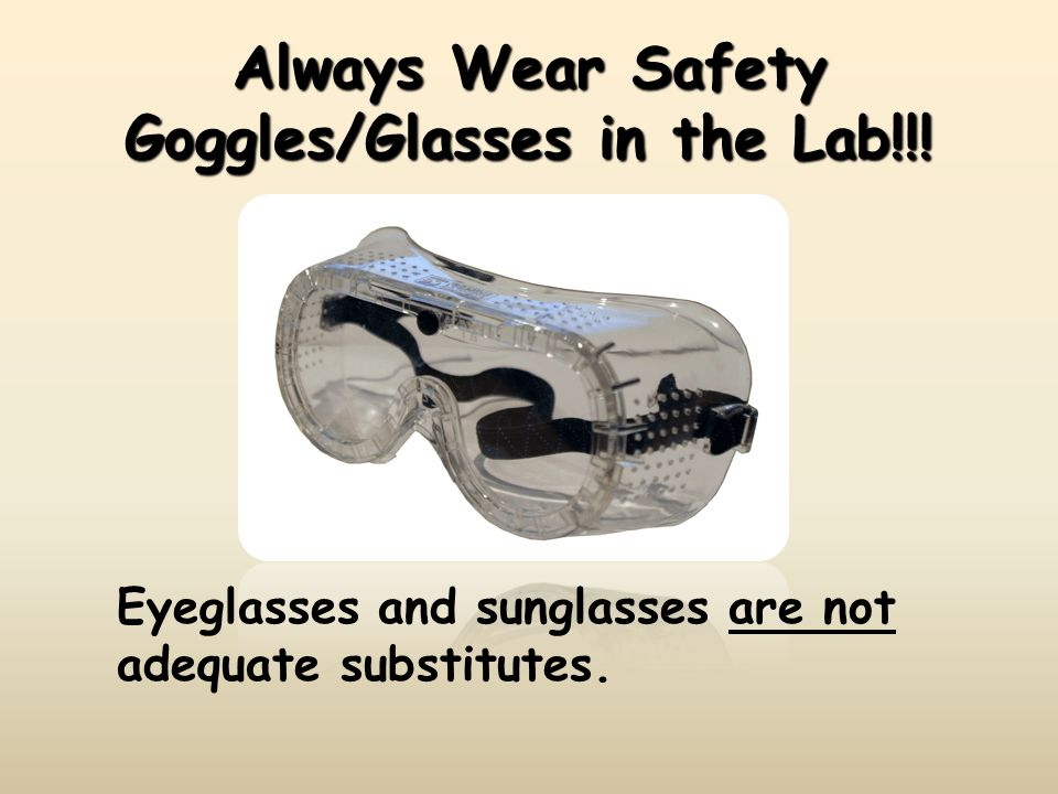 Chemical Burn of the Eye A chemical burn of the eye can be prevented by WEARING GOGGLES.