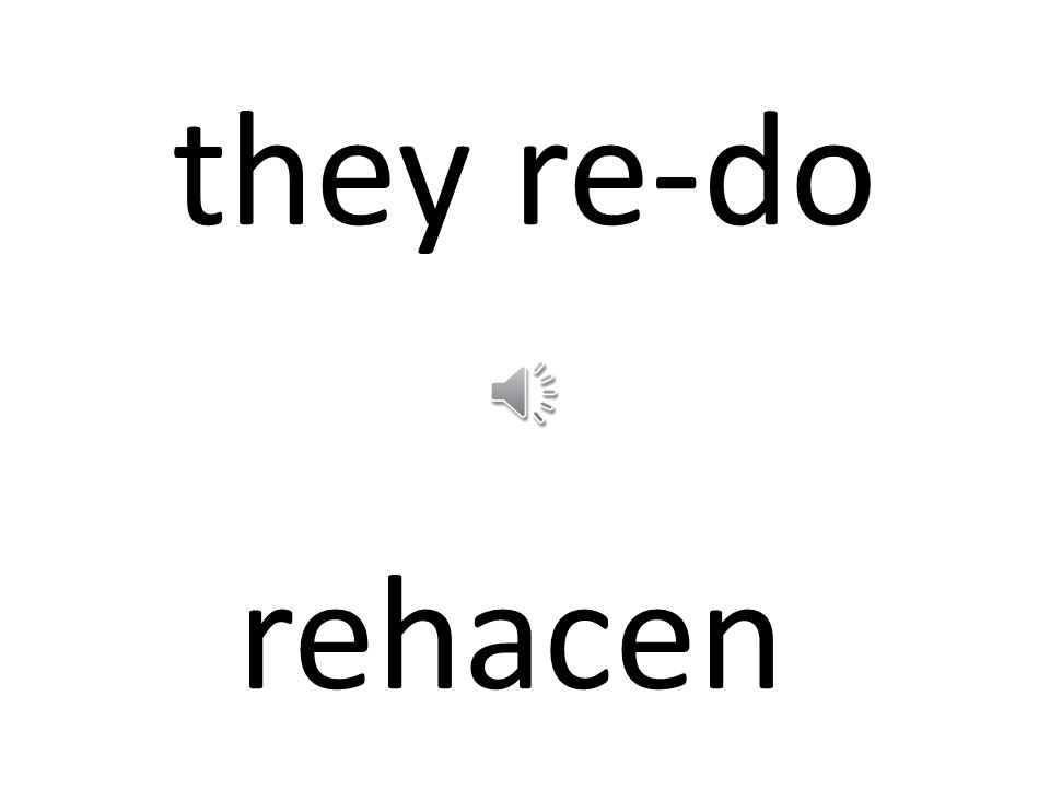they re-do rehacen