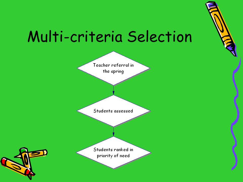 Multi-criteria Selection
