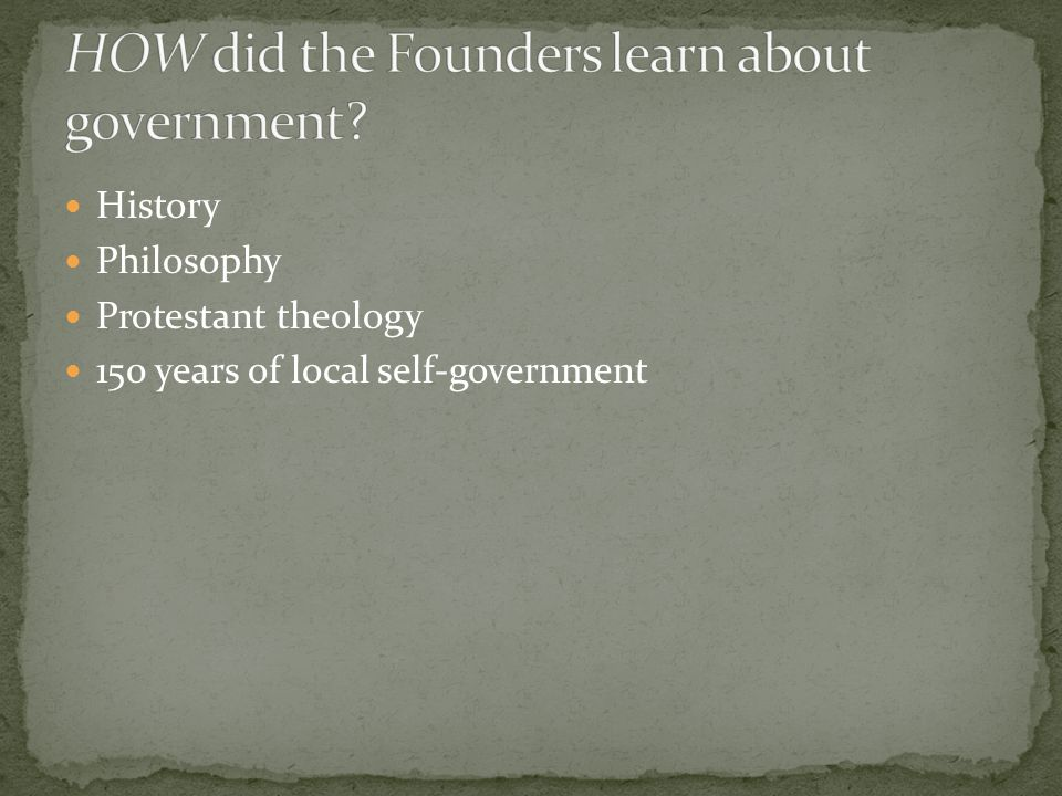 History Philosophy Protestant theology 150 years of local self-government