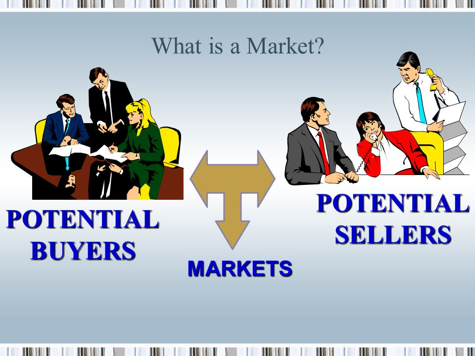 Why Do Markets Exist? Markets exist because we aren't self-sufficient but instead consume many products produced by other people. The typical person i