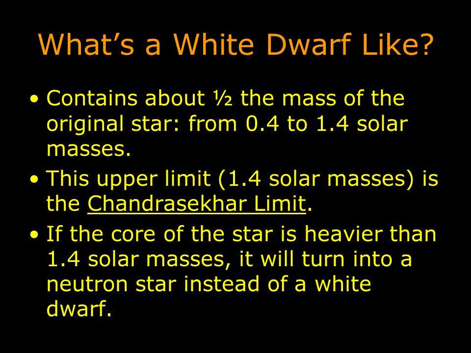 What's a White Dwarf Like.