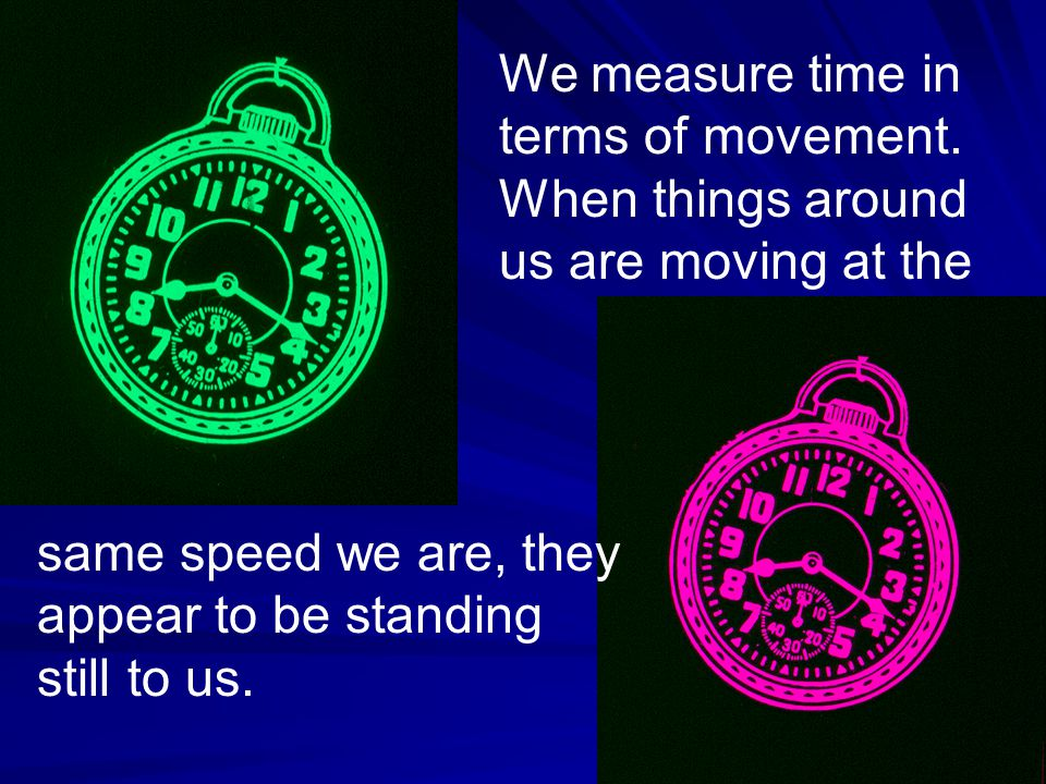 We measure time in terms of movement.