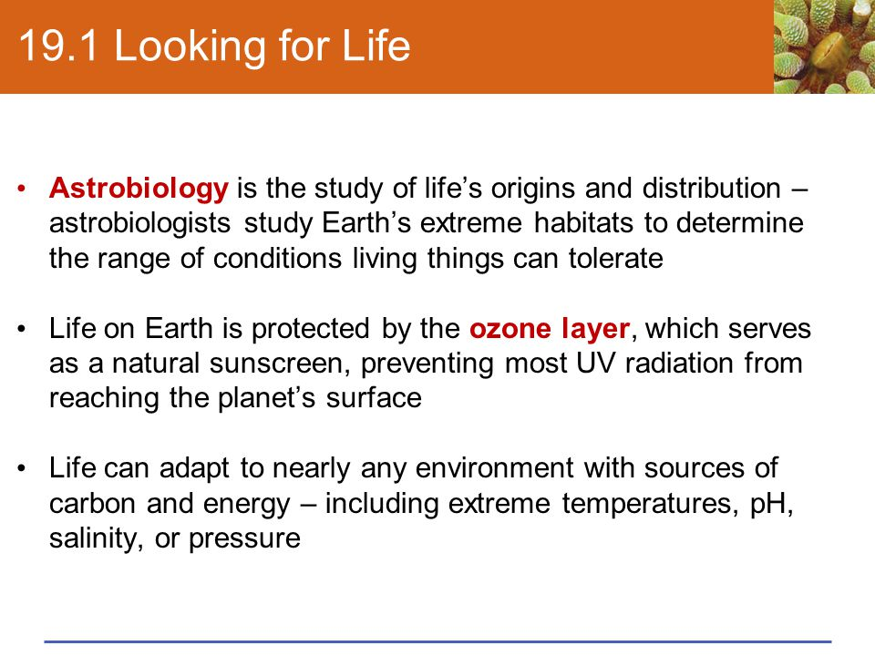Take-Home Message: What was early life like and how did it change Earth.