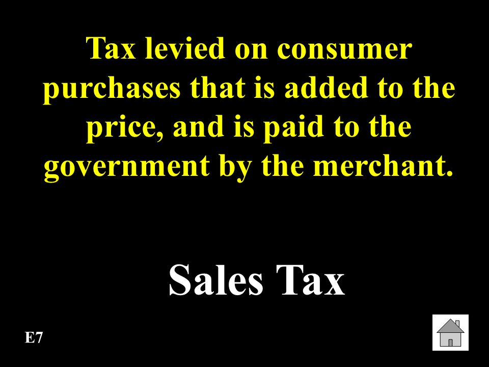 E6 Progressive Tax A tax that imposes a higher percentage rate of taxation on persons with higher incomes.