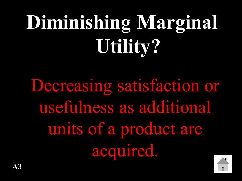 A3 Diminishing Marginal Utility.