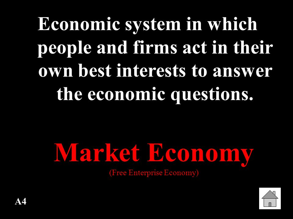 D4 Consumer Sovereignty Consumers rule the economy The Consumer is always right