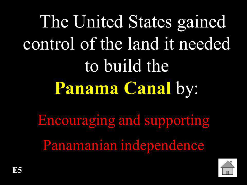 E4 Its construction ranks as one of the world's greatest engineering feats. Panama Canal