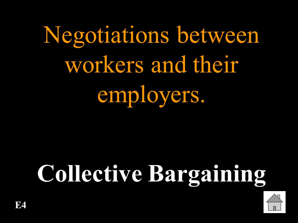 E3 To refuse to work in order to force an employer to meet certain standards demanded by workers. Strike