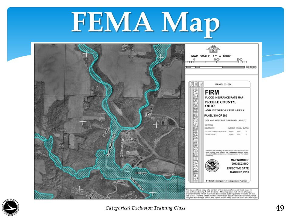 FEMA Map 49 Categorical Exclusion Training Class
