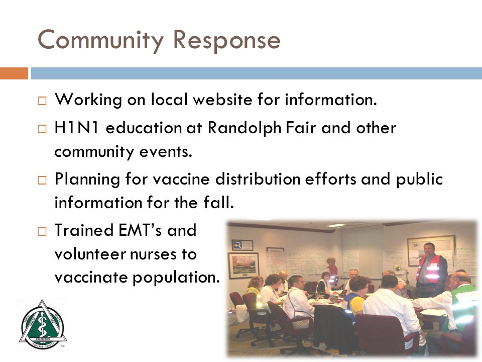 Community Response  Working on local website for information.