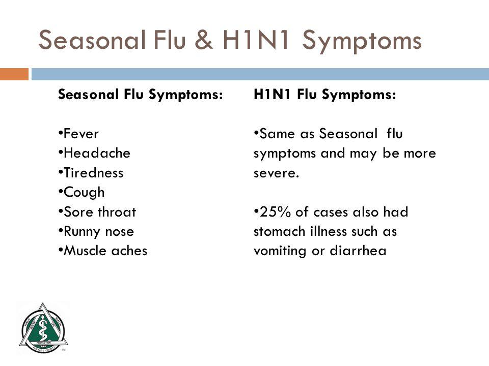 Seasonal Flu vs.
