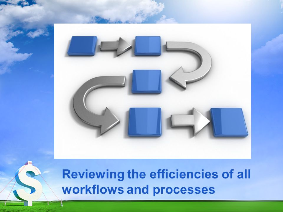 Reviewing the efficiencies of all workflows and processes