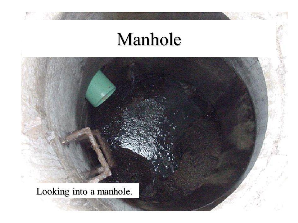 Manhole Looking into a manhole.