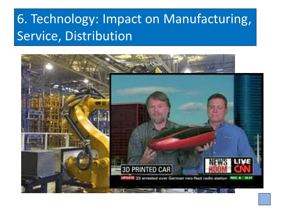 6. Technology: Impact on Manufacturing, Service, Distribution