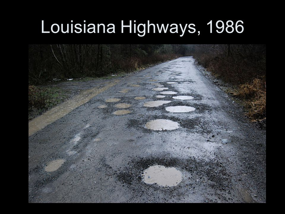 Louisiana Highways, 1986