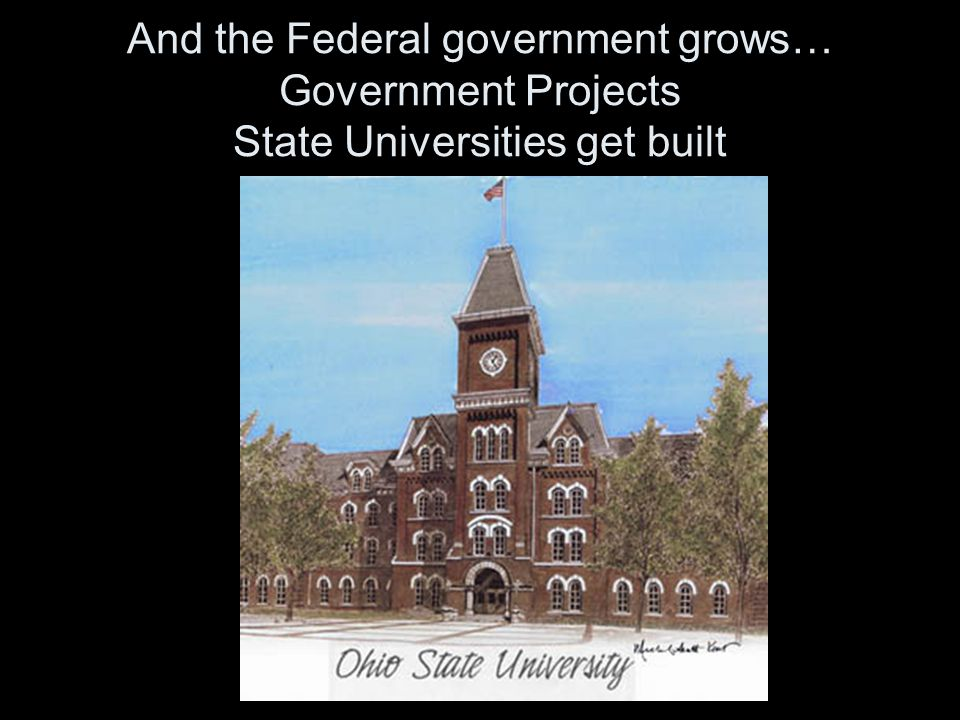 And the Federal government grows… Government Projects CCC men work for government