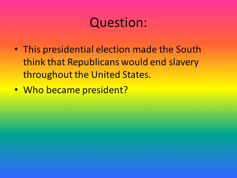 Answer: The Republican party
