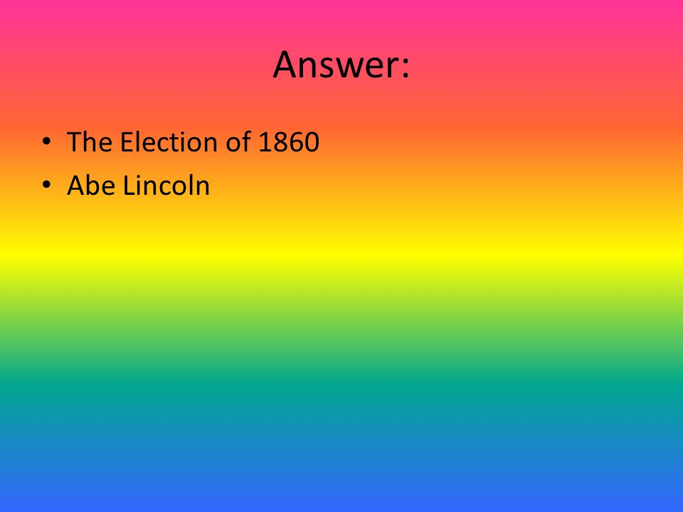 Question: This act stated: California- entered Union as a free state New Mexico & Utah Territories-popular sovereignty Washington D.C.-slave trade abolished, slavery allowed Stronger Fugitive Laws in the North-return slaves to the South New Mexico-Texas Border- favor of New Mexico