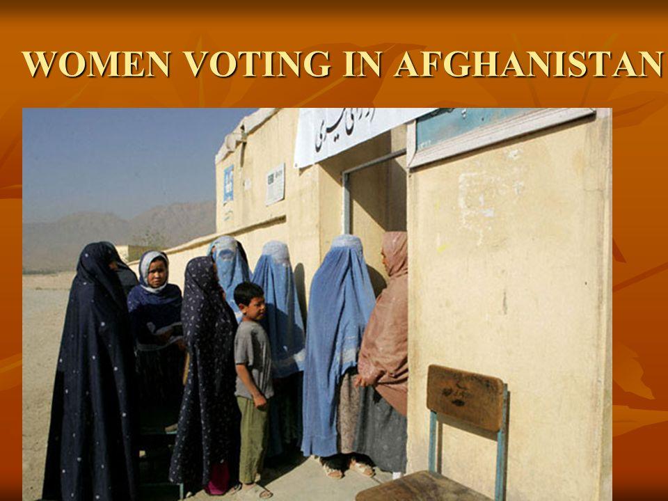 WOMEN VOTING IN AFGHANISTAN