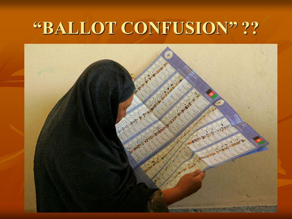 """BALLOT CONFUSION"" ??"