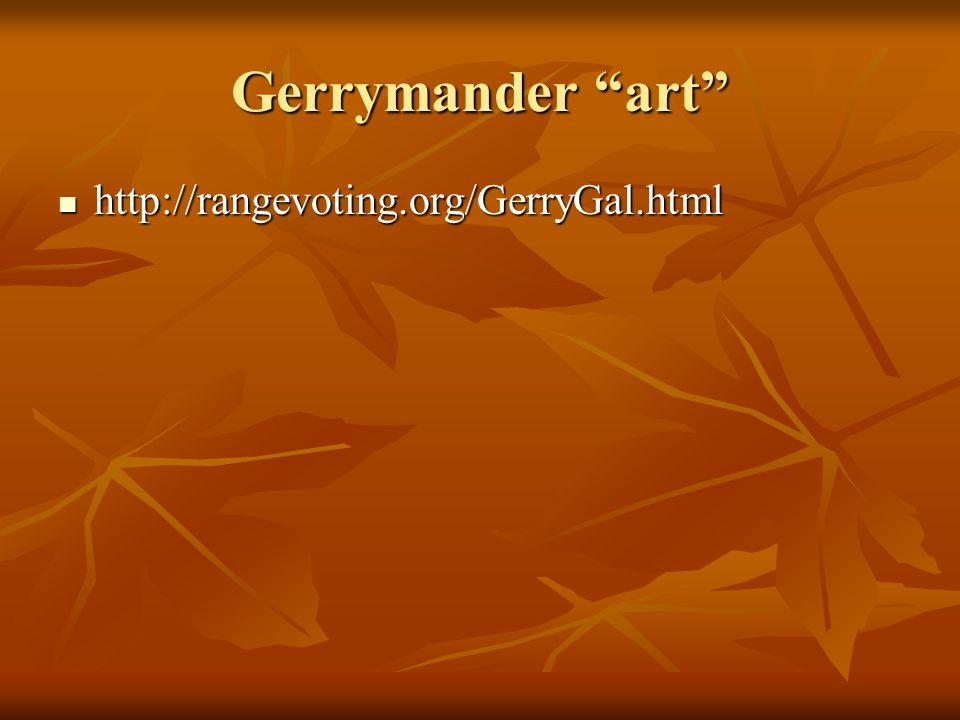 "Gerrymander ""art"" http://rangevoting.org/GerryGal.html http://rangevoting.org/GerryGal.html"