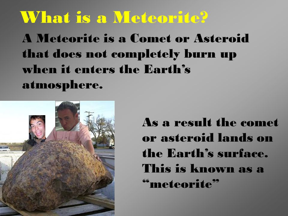 The largest Meteorite found in the USA. Discovered in 1902