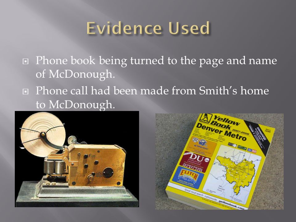  Phone book being turned to the page and name of McDonough.