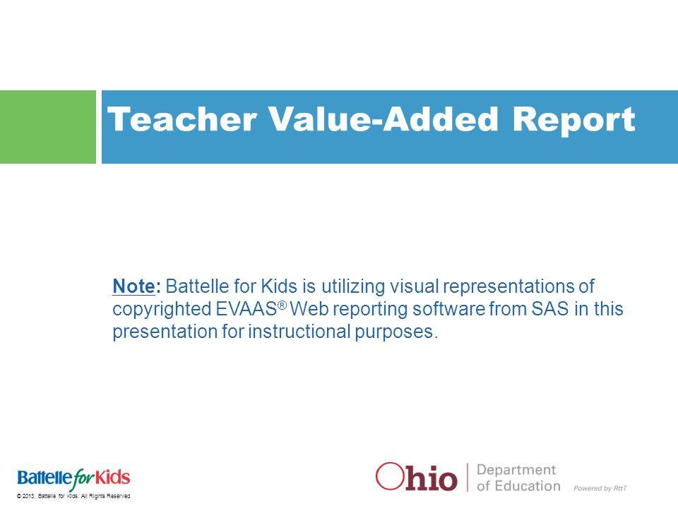© 2013, Battelle for Kids.All Rights Reserved.