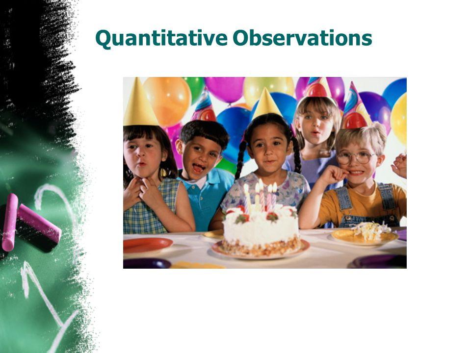 Quantitative Observations