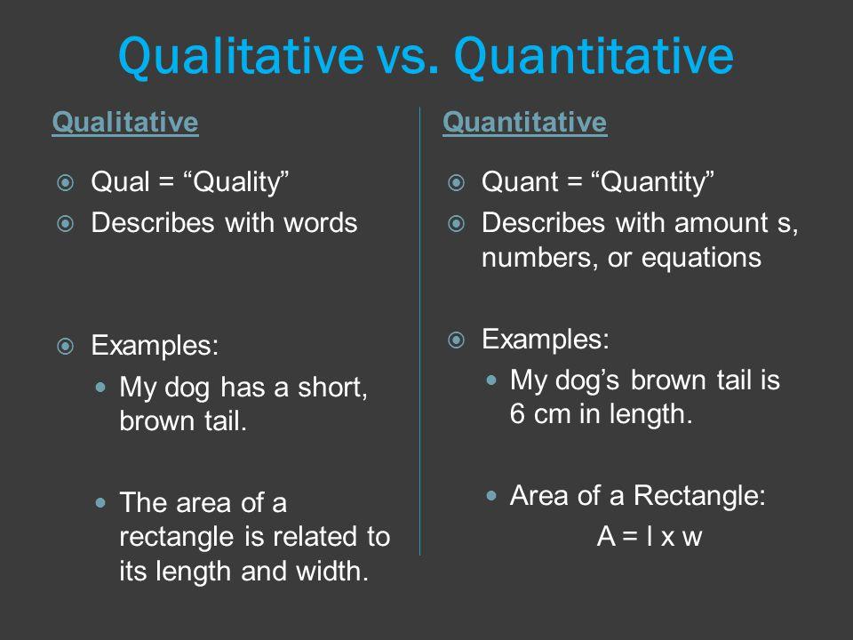 Qualitative vs.