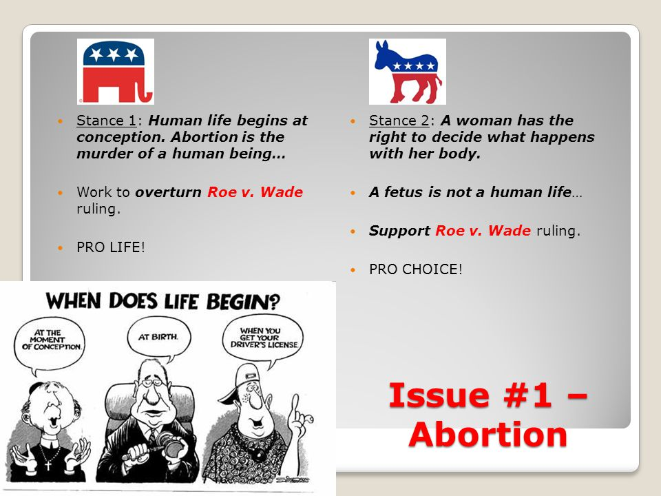 "an argument that human life begins at conception and abortion is murder The science of abortion: when does life begin that ""human life begins at conception beginning of life it is only when abortion was legal that."