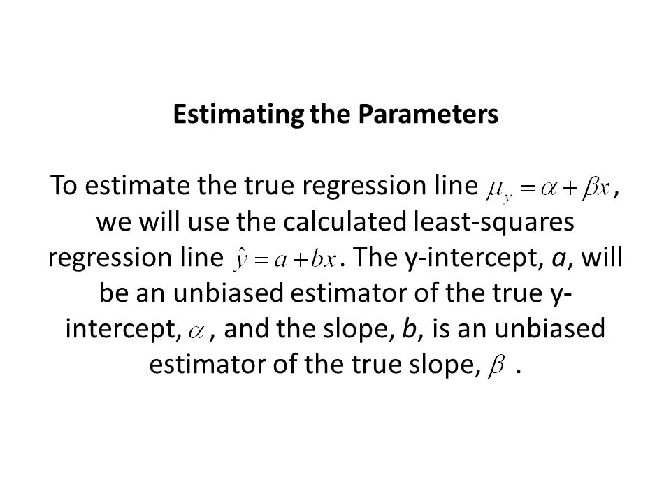 The remaining parameter of the model is the standard deviation,, which describes the variability of the response y about the true regression line.