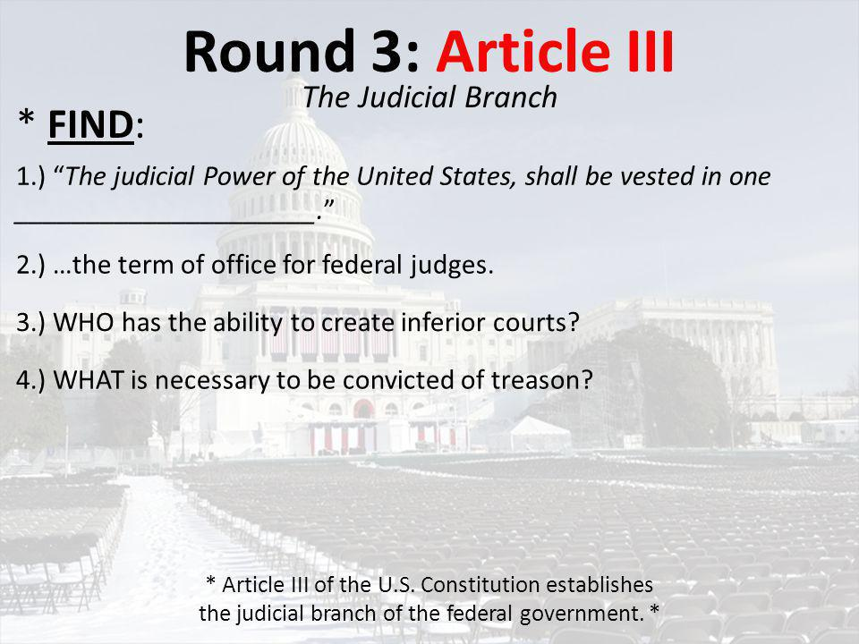 Round 4: Article IV Interstate Relations 1.) _________ and _________ shall be given in each State to the public _________, _________, and _________ of every other State. 2.) WHO is entitled to all Privileges and Immunities of Citizens in the several States... .