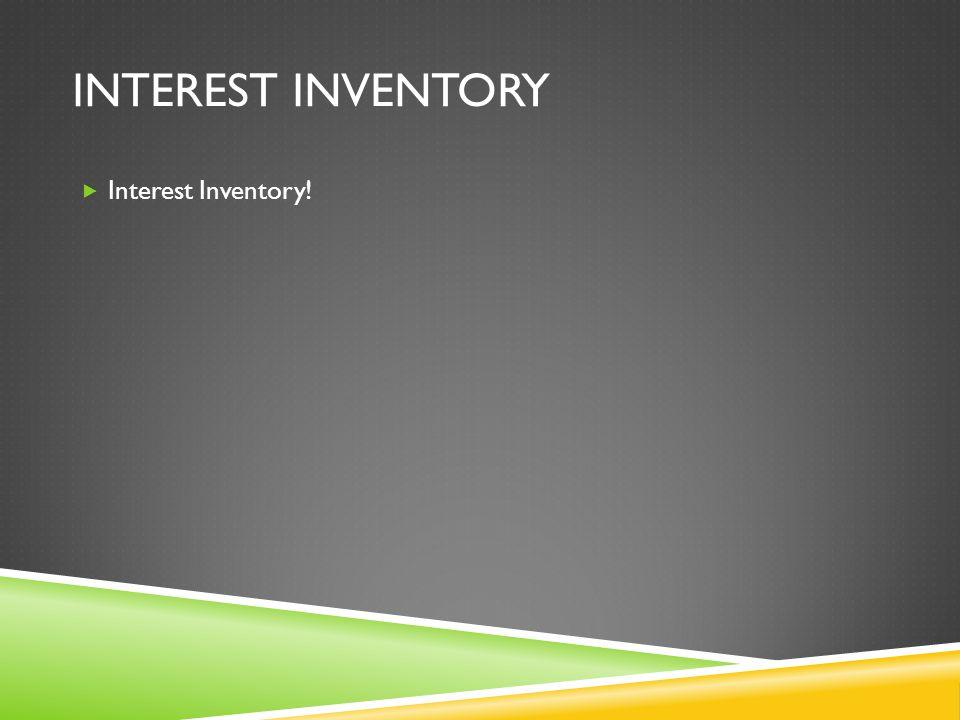 INTEREST INVENTORY  Interest Inventory!