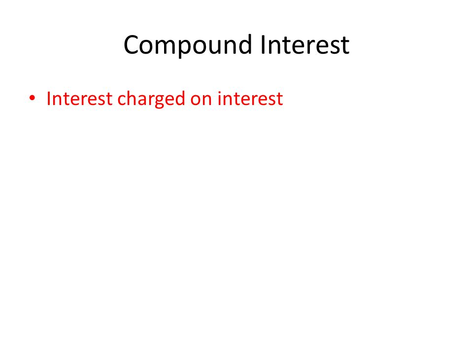 Interest charged on interest