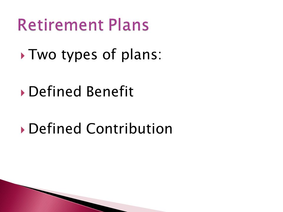  Pension plan in which the amount of benefits paid to an employee after retirement is fixed in advance in accordance with a formula given in the plan  Traditional pension  Old GM is an example