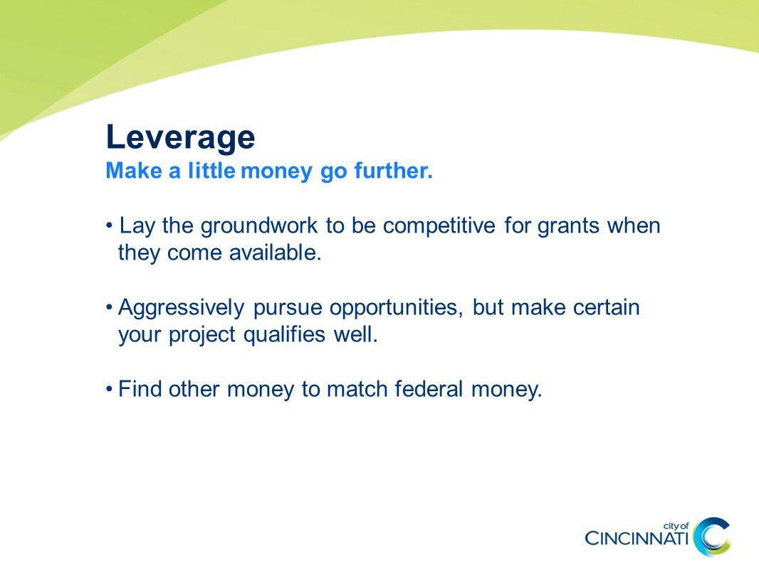 Leverage Make a little money go further.