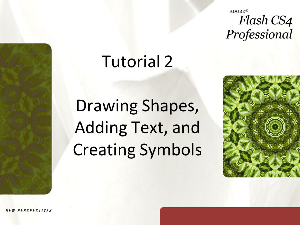 Tutorial 2 Drawing Shapes, Adding Text, and Creating Symbols