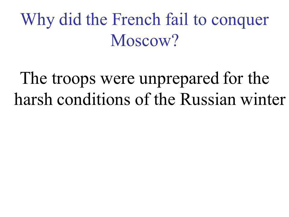 What was the farthest point of attack the French troops were able to make? Moscow