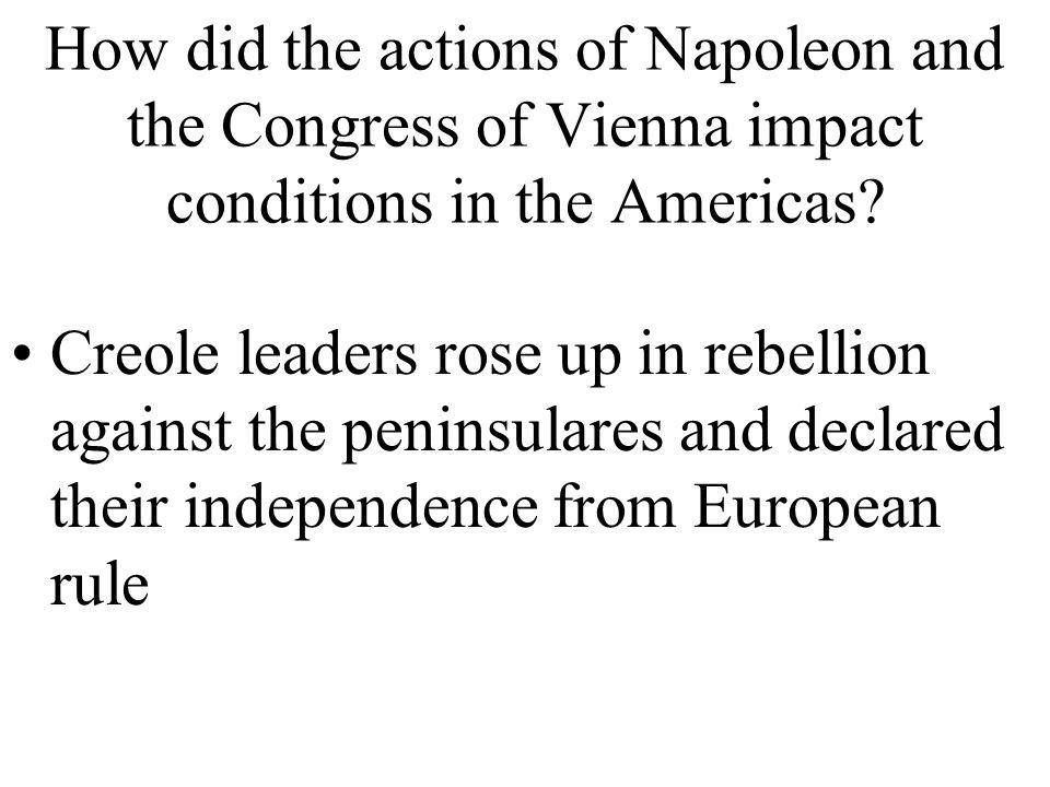 Which alliance was created by the nations of Europe to support the conditions created by the Congress of Vienna? Concert of Europe