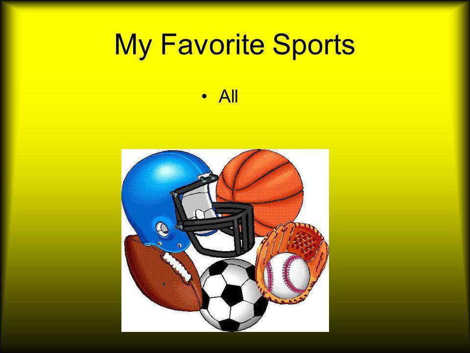 My Favorite Teams