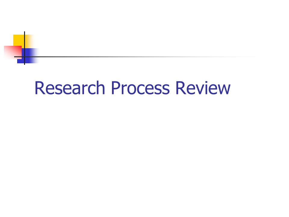 Research Process Review